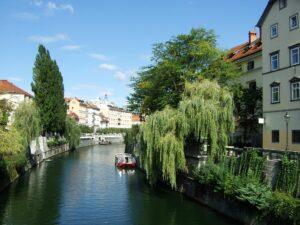 Slowenien Ljubljana Fluß - Sento Wanderreisen