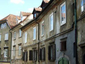 Slowenien Ljubljana Häuseransicht - Sento Wanderreisen