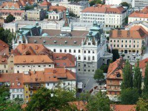 Slowenien Ljubljana Stadtansicht - Sento Wanderreisen