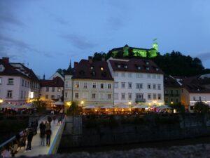 Slowenien - Ljubljana am Abend - Sento Wanderreisen