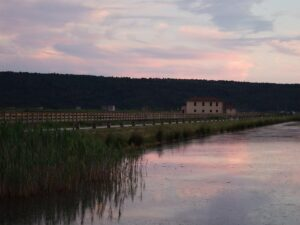 Slowenien Salinen im Abendlicht - Sento Wanderreisen